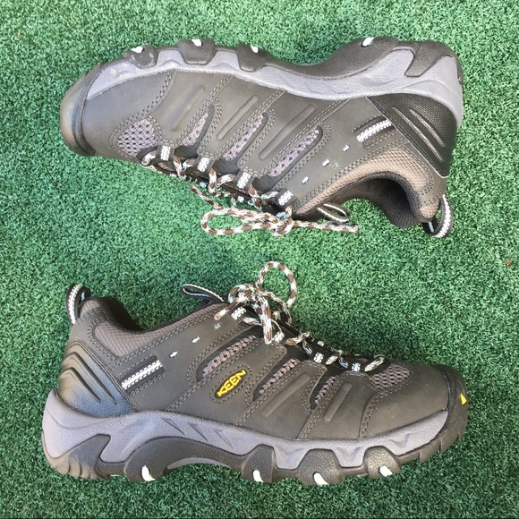 34096688542 NWOB Keen Koven Hiking Shoes Raven/Dusty Aqua 7.5
